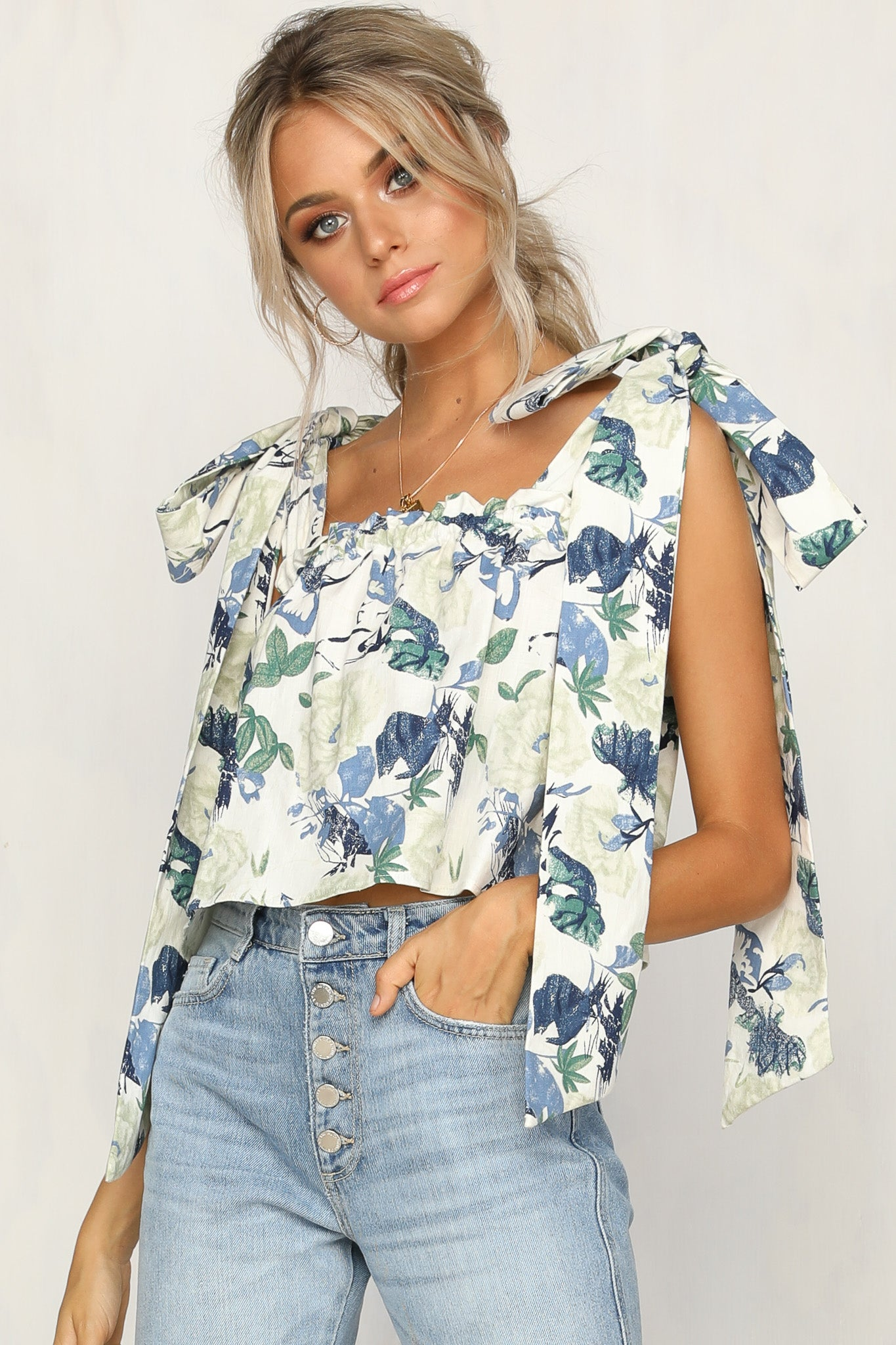Lottie Top (Blue Print)