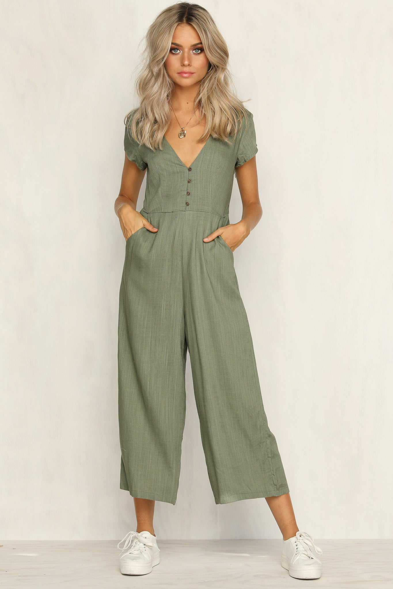 In My Dreams Jumpsuit (Khaki)