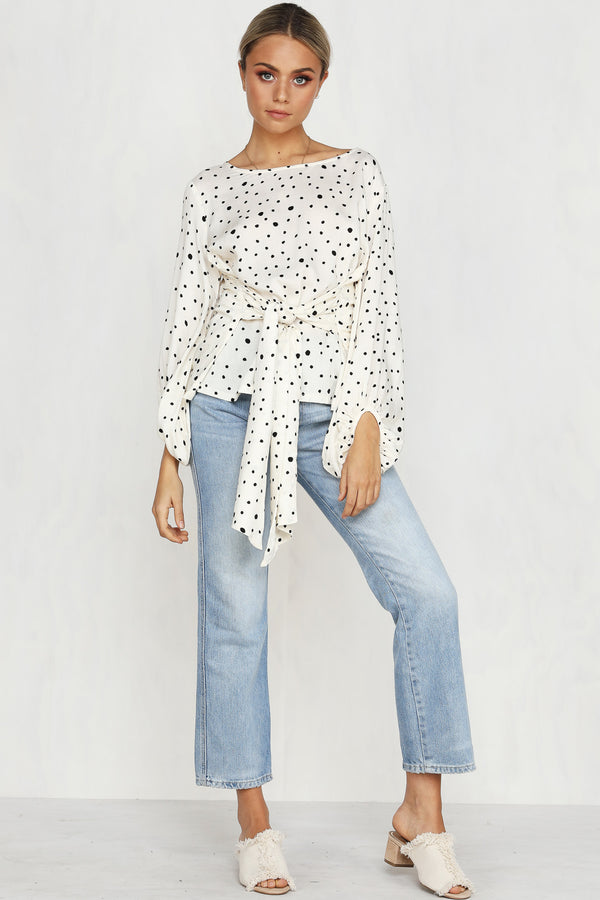 Love Flush Top (Polka Dot)
