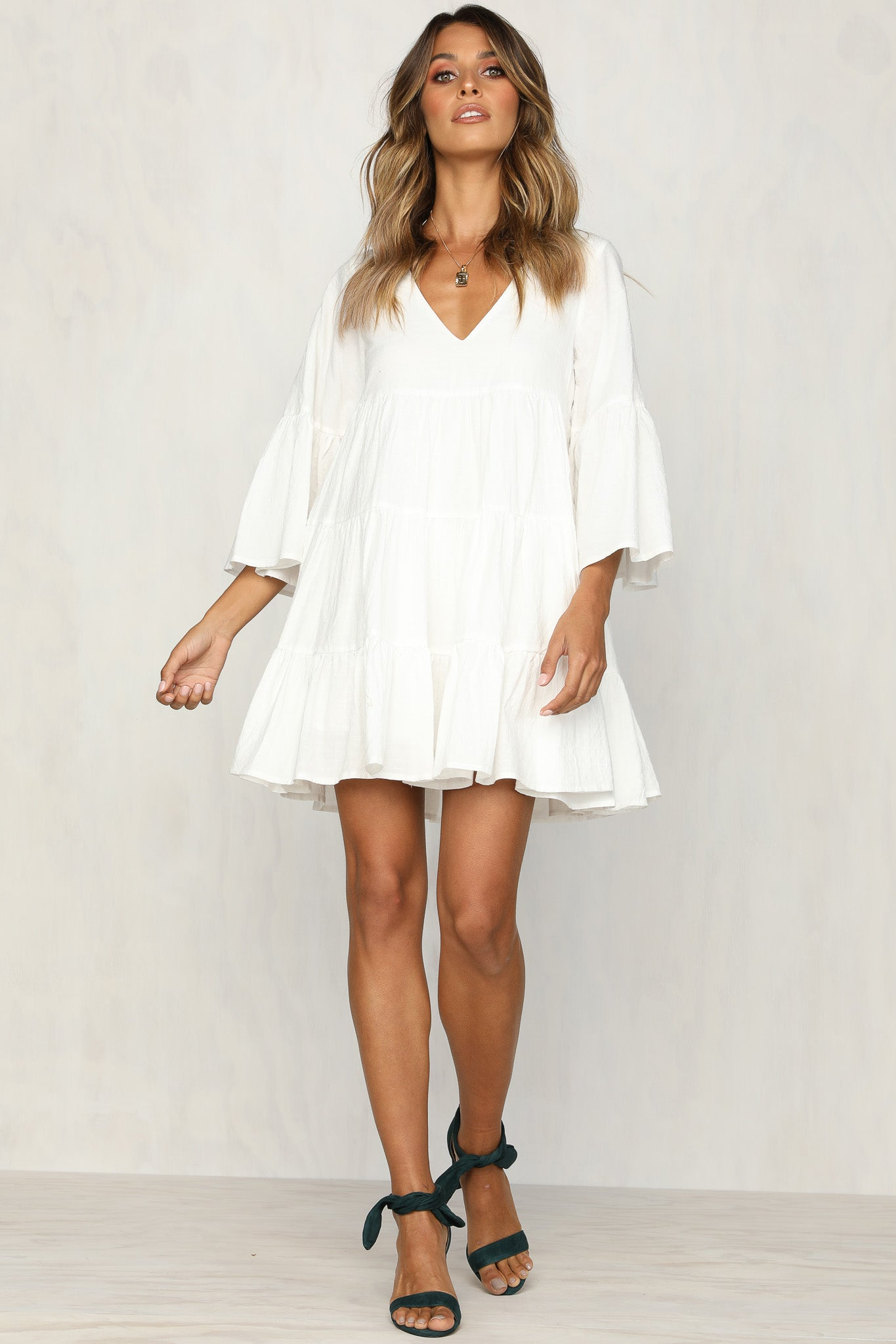 Lift Me Up Dress (White)