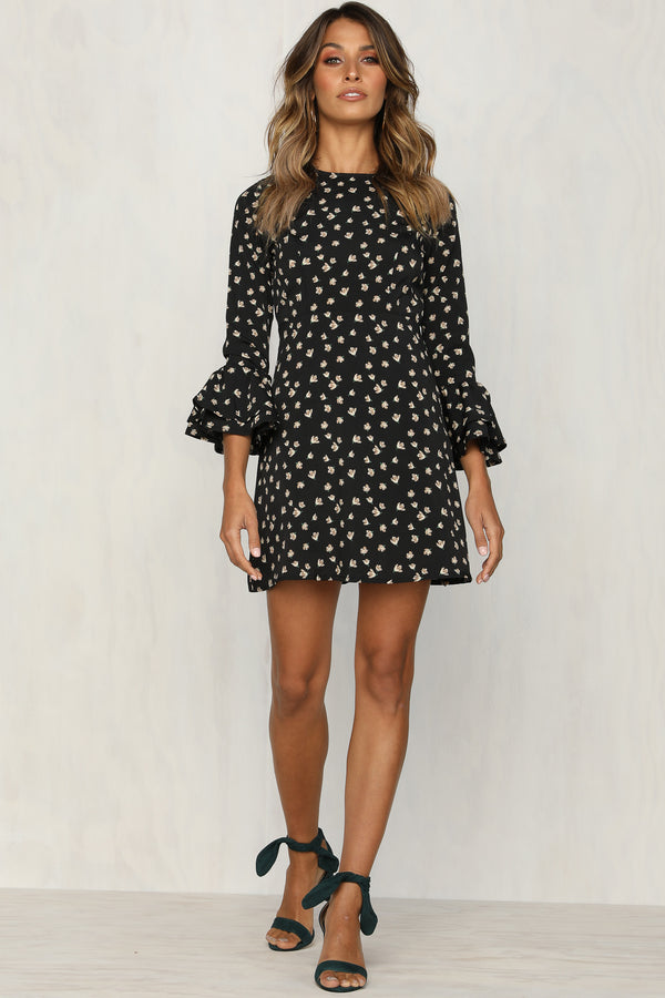 Know What I Want Dress (Black Floral)