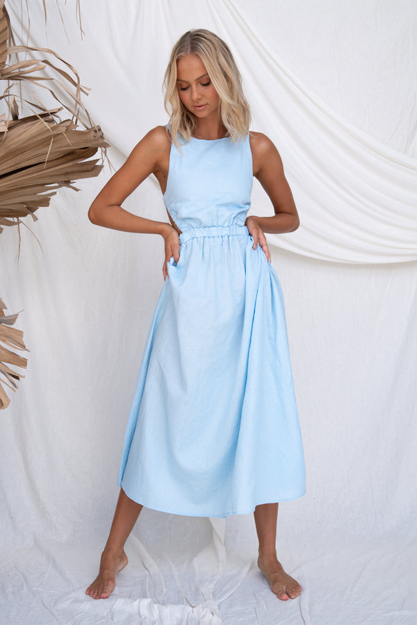 Harper Dress (Baby Blue)