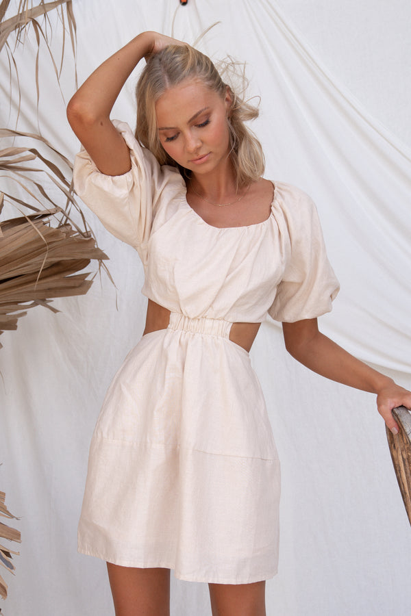 Viktoria Dress (Beige)
