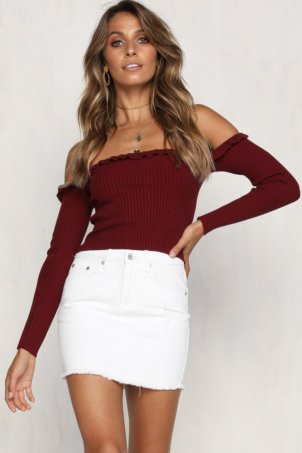 Remi Knit Top (Wine)