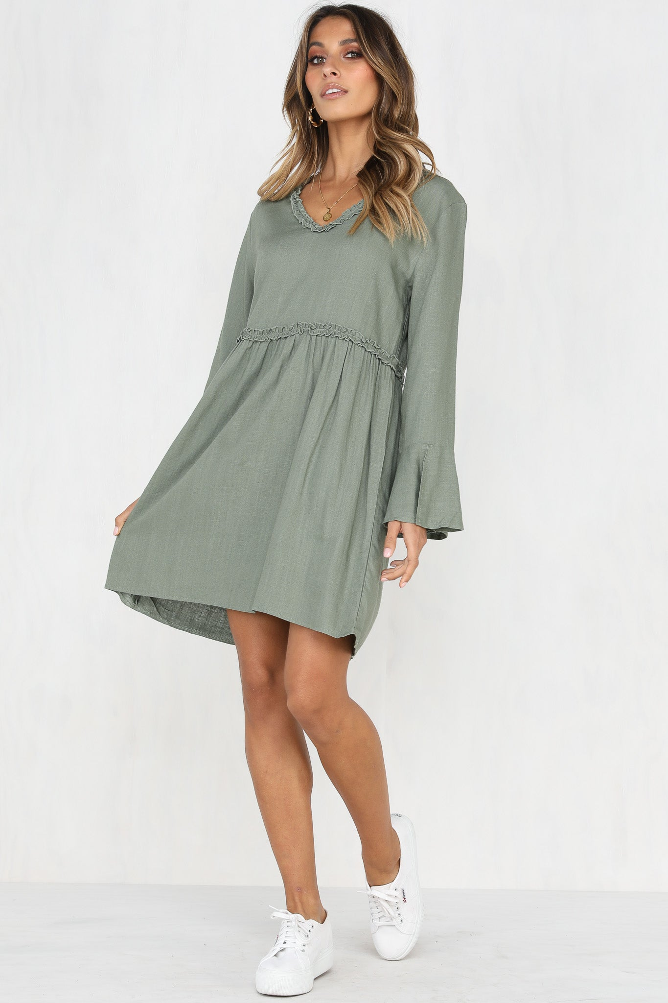 Lula Dress (Khaki)