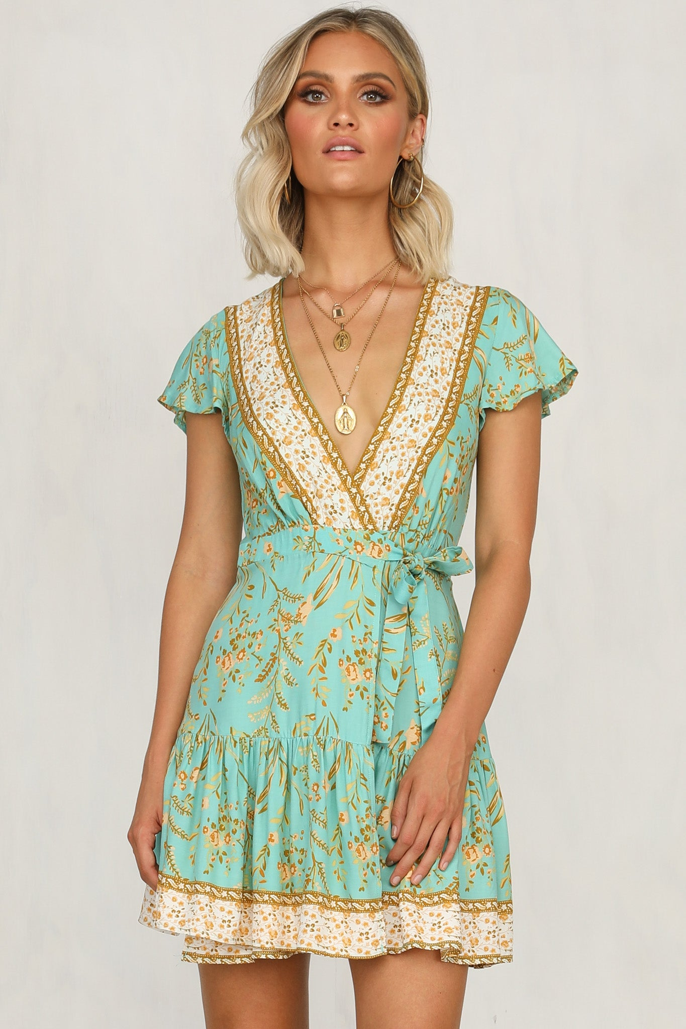 Pharaoh Dress (Sage)