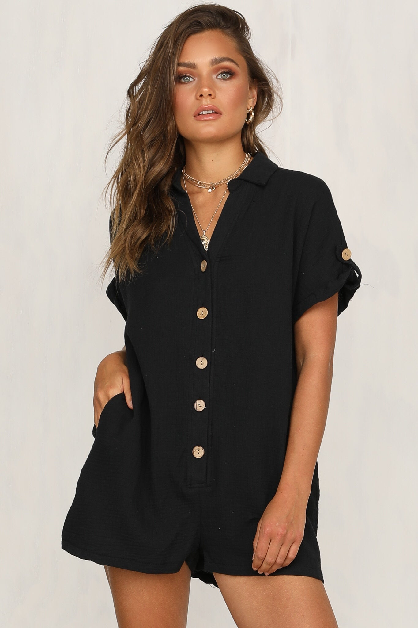 Chantilly Playsuit (Black)