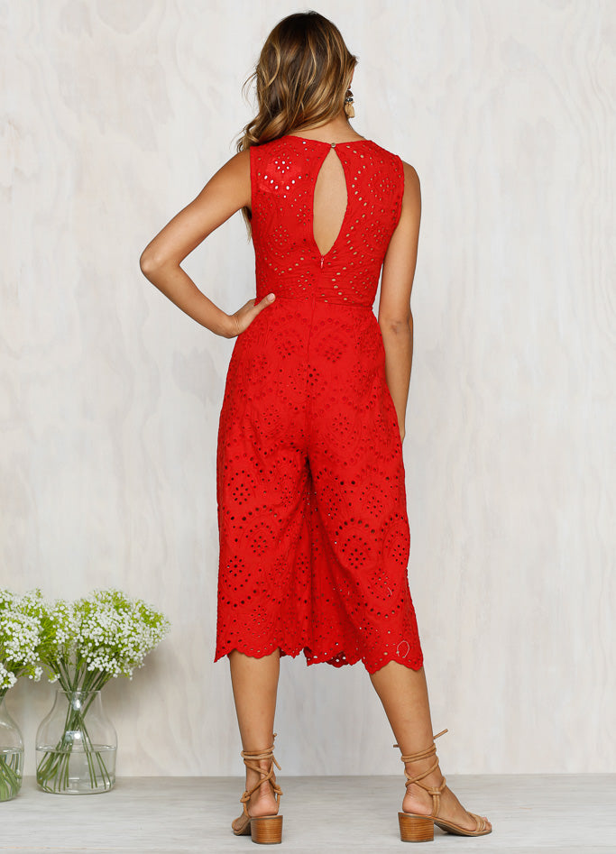 Alba Jumpsuit (Red)
