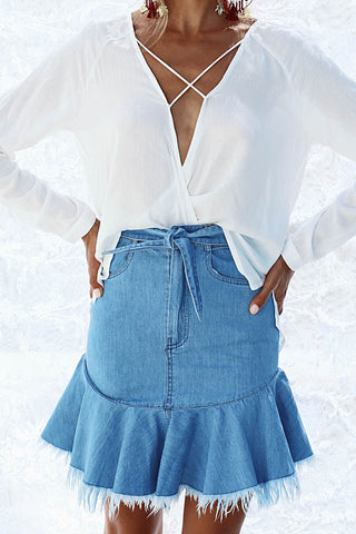 So Fly Denim Skirt
