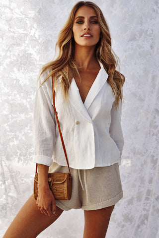 The Getaway Linen Jacket