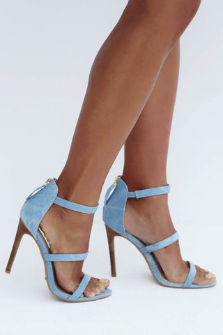 Camilla Heel (Light Denim)