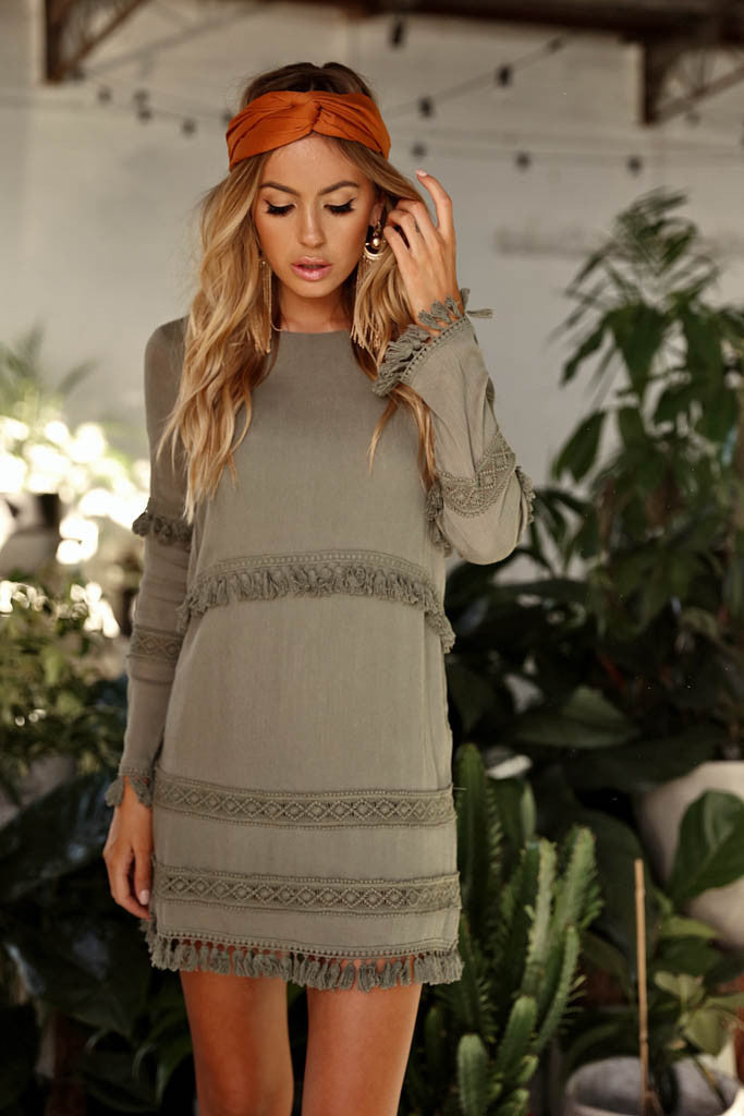 Hot House Dress (Khaki)