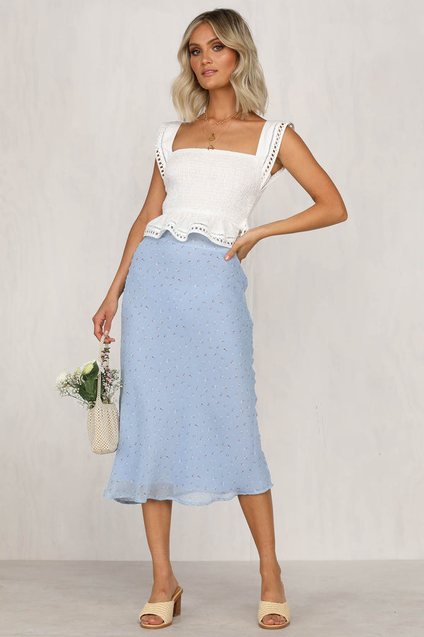 Doll Face Skirt (Blue)