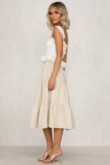 Little Bit Longer Skirt (Beige)