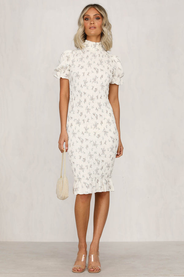 Like A Prayer Dress (Cream Floral)