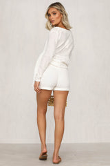 Eye Of Wild Shorts (White)