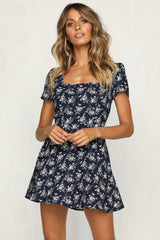 Botanica Dress (Navy)