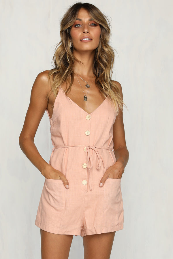 Adelaide Playsuit (Blush)