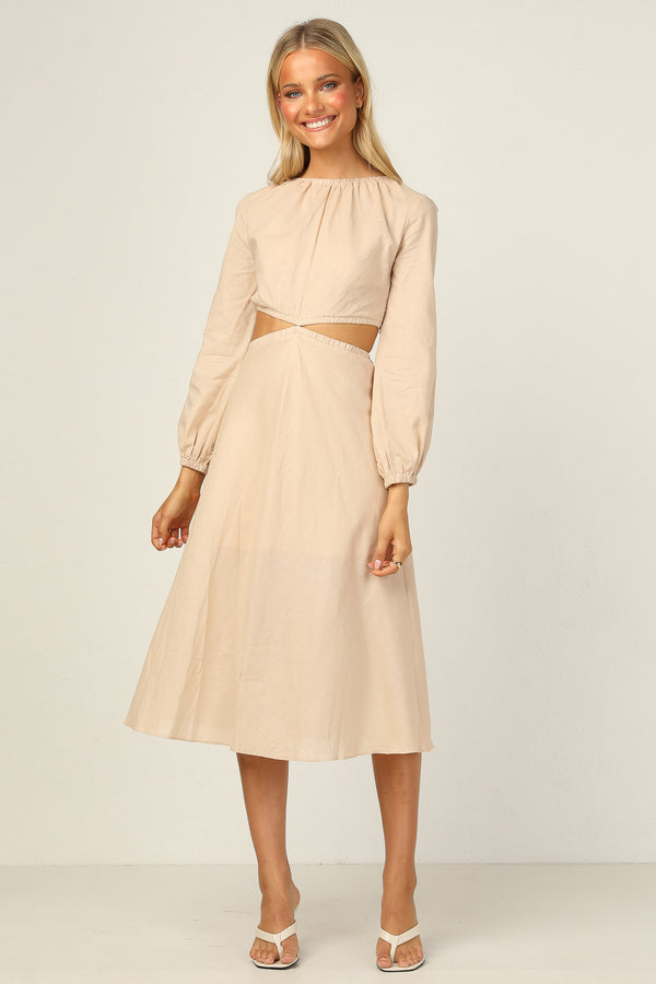 Iria Dress (Beige)