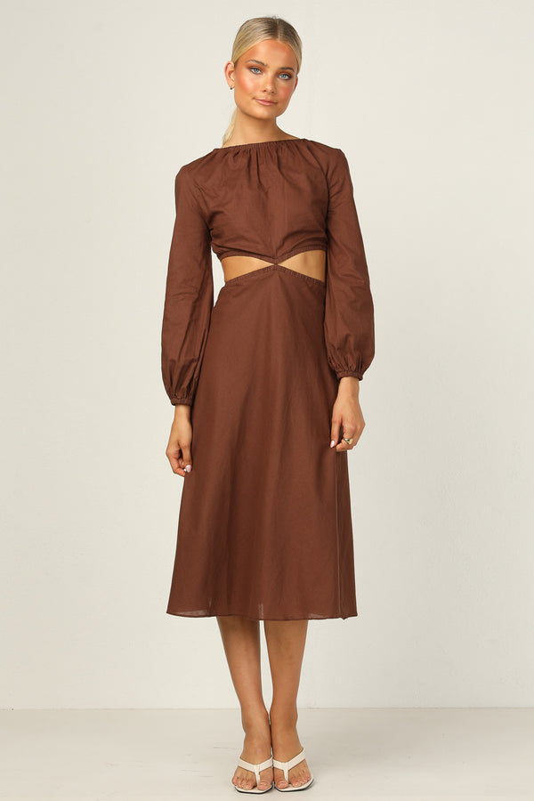 Iria Dress (Chocolate)