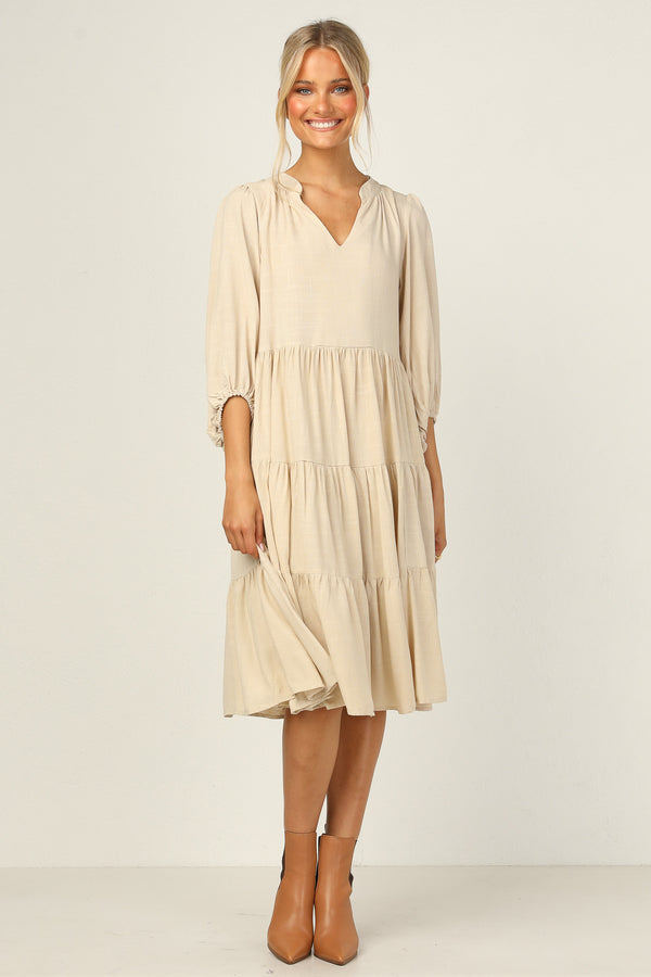Caterina Dress (Beige)