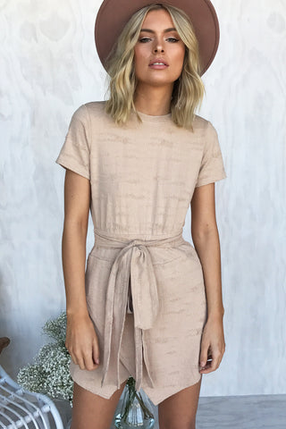 Ring Around You Playsuit (Beige)
