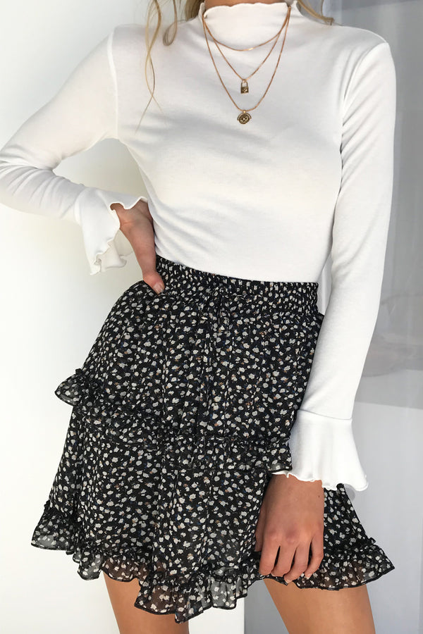 Take A Bow Skirt (Floral)