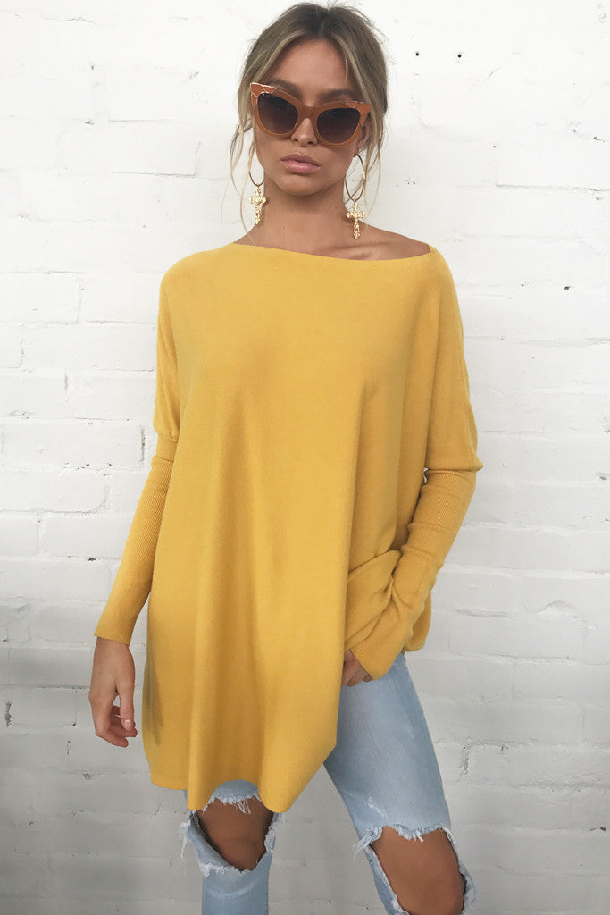 Honey Knitted Top (Mustard)