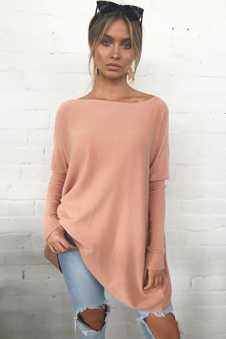 Harriet Knitted Top (Peach)