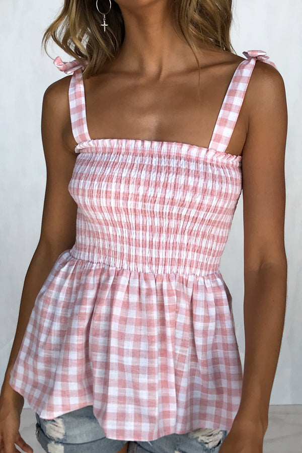 Amelie Gingham Top