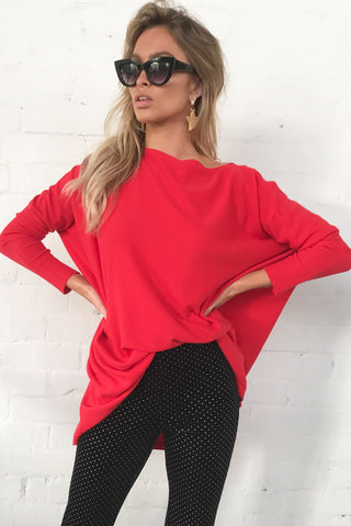 Love Story Knitted Top (Red)