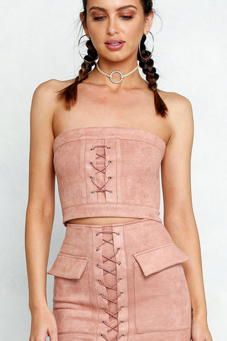 Break Up Bustier (Rose)