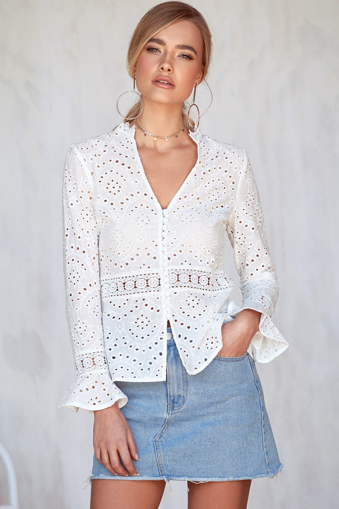 Lace Top with Flowers