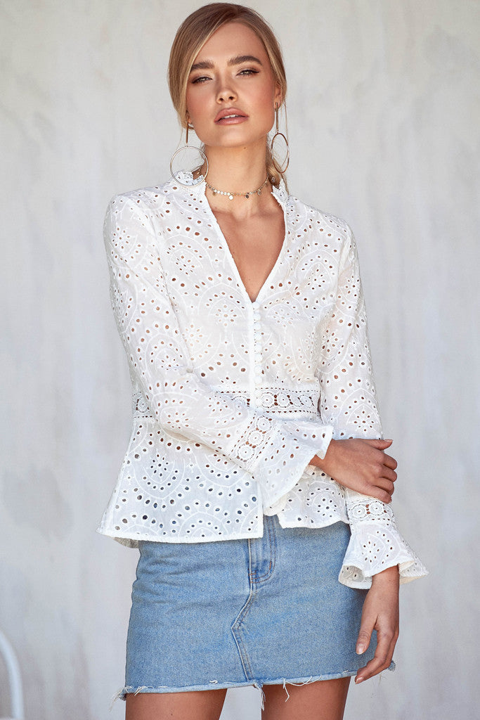 Wild Flowers Lace Top