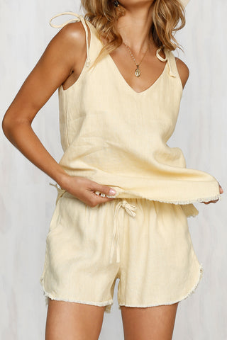 Melt My Heart Linen Shorts
