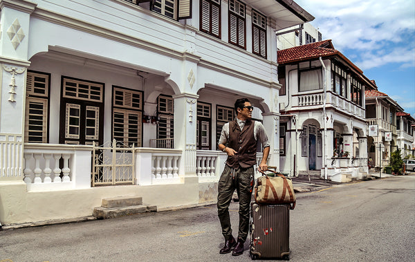 WG Trunk Co stays at Bangkok Lane's Dwell Guesthouse in Penang