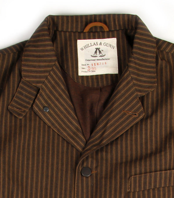 Charles Jacket in Tobacco Stripe