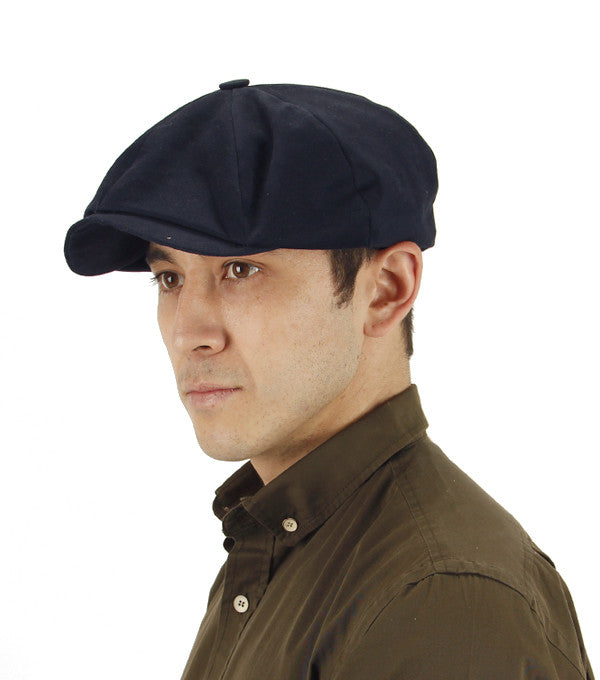 Paper Boy Cap in Navy