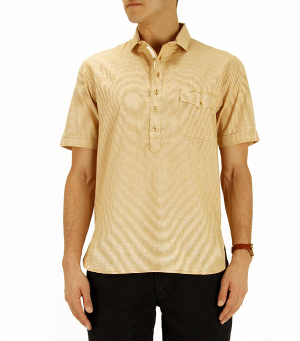 Siam Shirt in Mustard Check