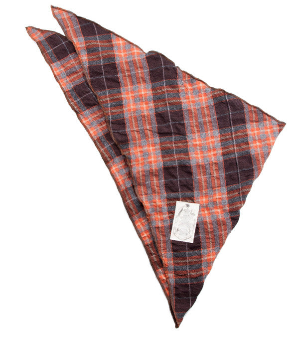 El Paso Scarf in Orange Brown Check