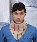 Bandito Scarf in Red Stripe