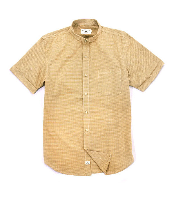 Gingham Check Shirt in Mustard