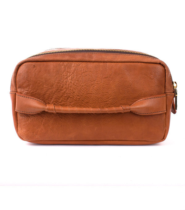 Voyagers Dopp Kit in Tan Leather