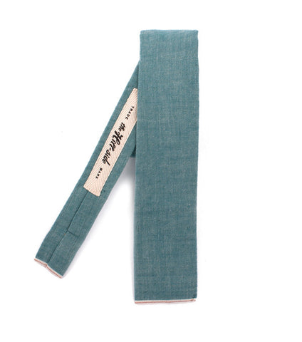 Teal Chambray Tie