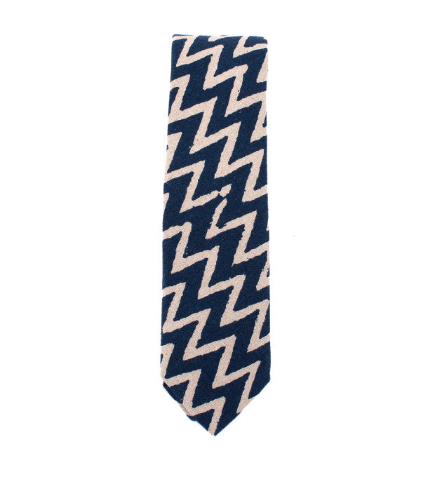 Cloud Camo Pointed Tie