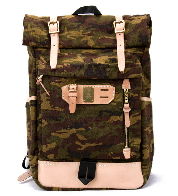 Roll Down Backpack in Camo