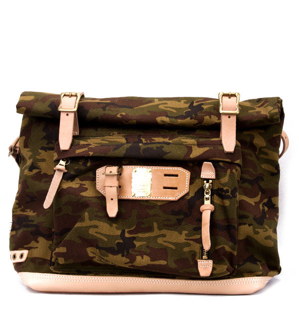 Roll Down Satchel in Camo
