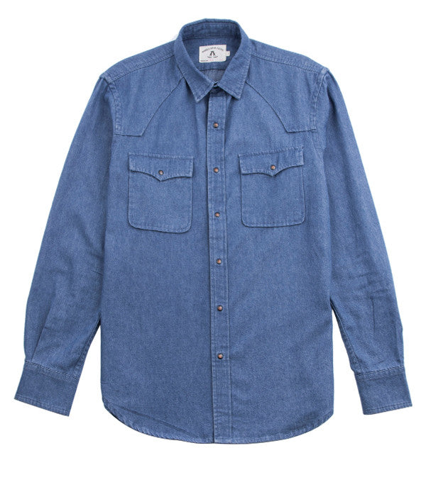 Clint Shirt in Stone Blue