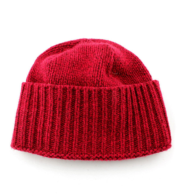 Wool Beanie in Red