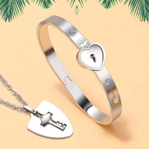 True Love Bracelets And Key Pendant